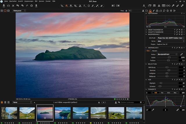 Bilder bearbeiten mit Capture One Pro am Microsoft Surface Pro 4 - Gratis Arbeitsfläche zum Download