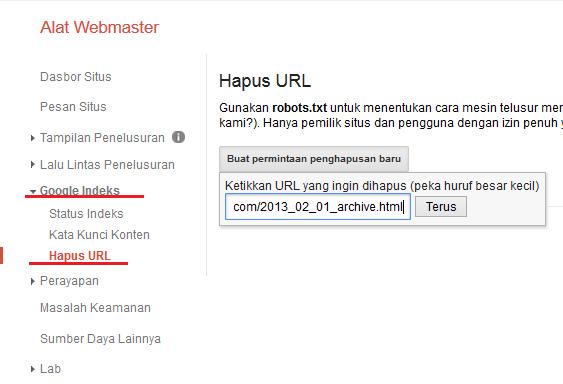 Menghapus URL Duplikat Konten dari Index Google