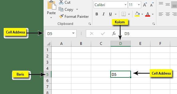 Apa Yang Disebut Sel (Cell) Di Excel 2016