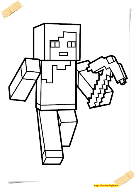 click here gmail drive - Minecraft Coloring Pages 2