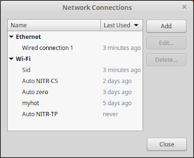 linux mint network connections