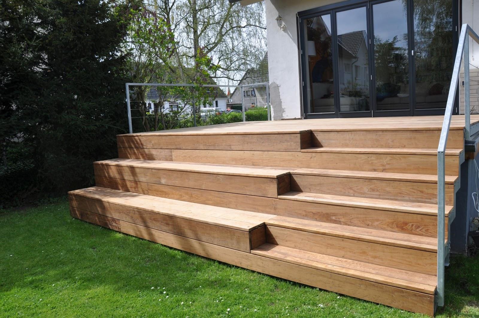 Terrasse Aus Stahl Mit Holzbelag Frobel Metallbau