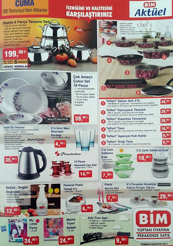 Bim Aktüel Ürünler, BİM aktüel ürünler kataloğu, Bim indirimli ürünler 28 Temmuz 1 Ağustos