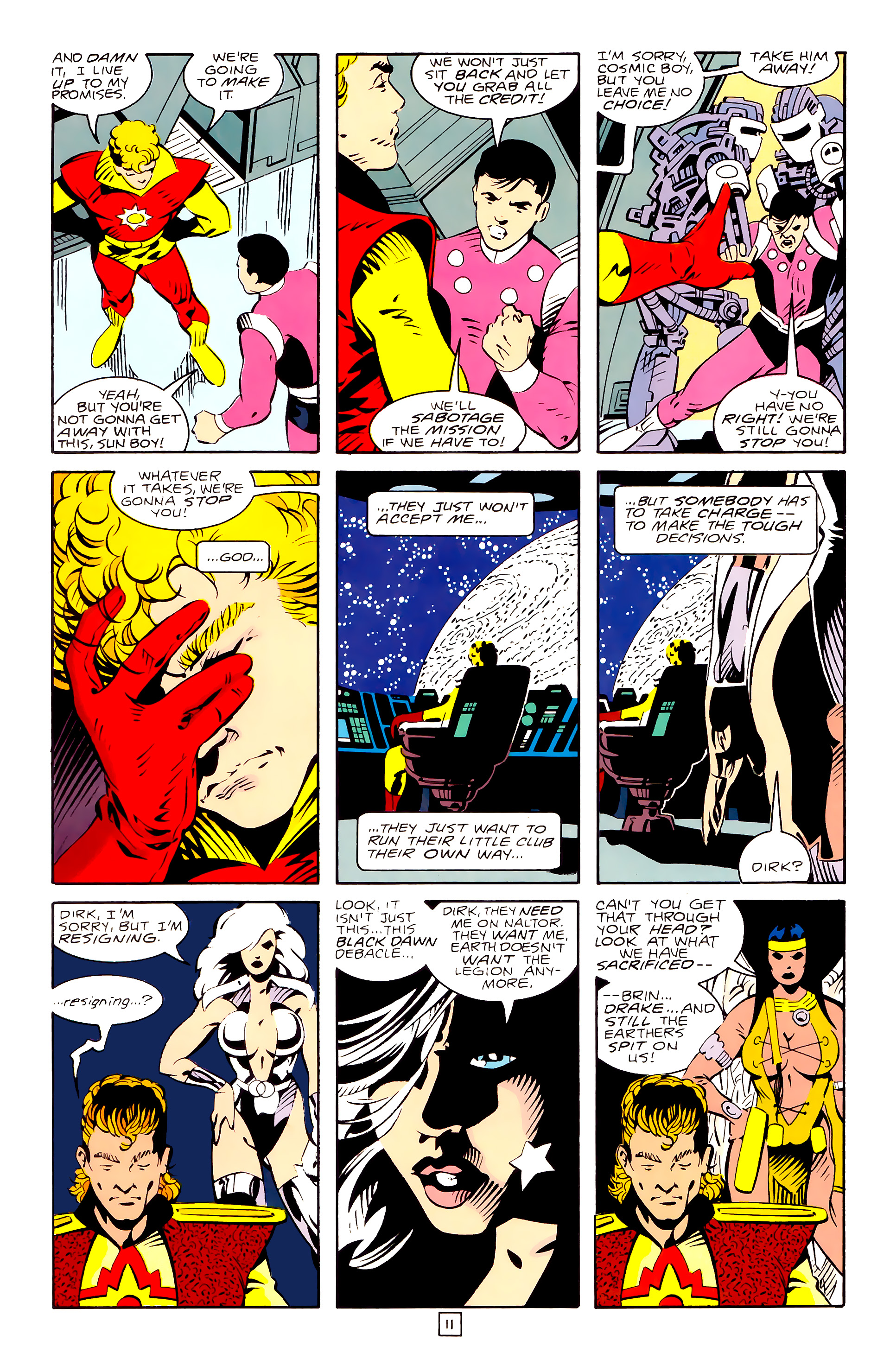 Legion of Super-Heroes (1989) 28 Page 11