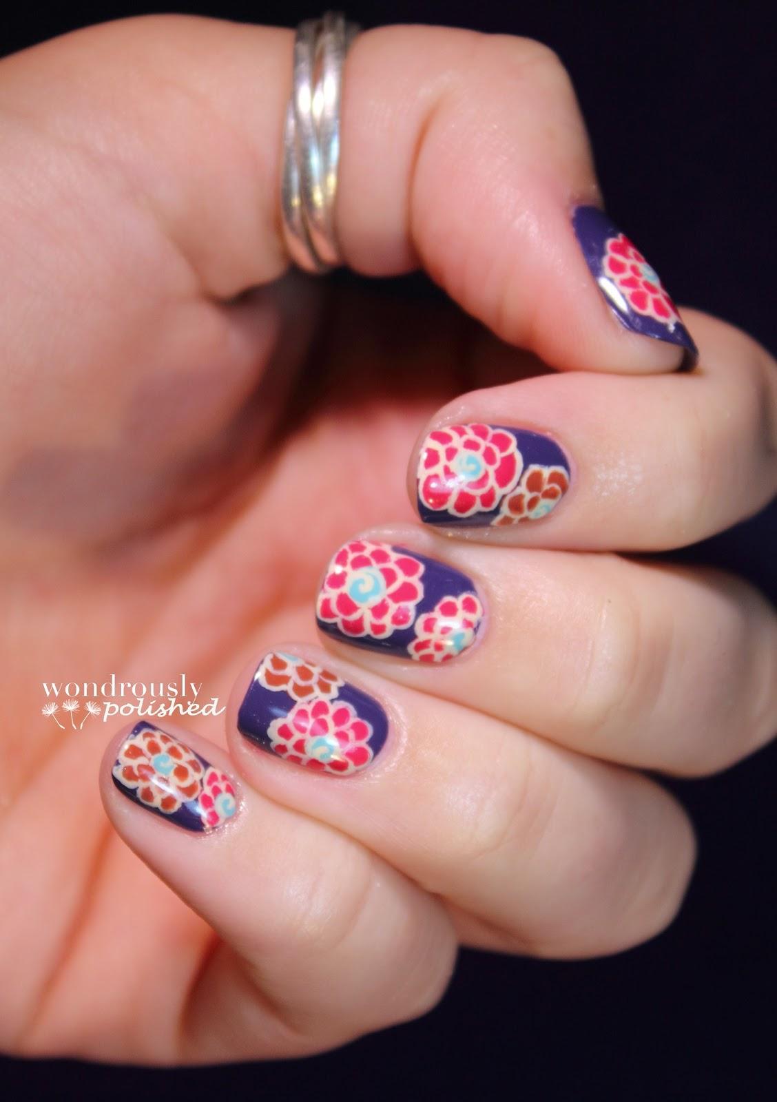 Wondrously Polished April Nail Art Challenge: Wondrously Polished: A Green Thumb Equivalent