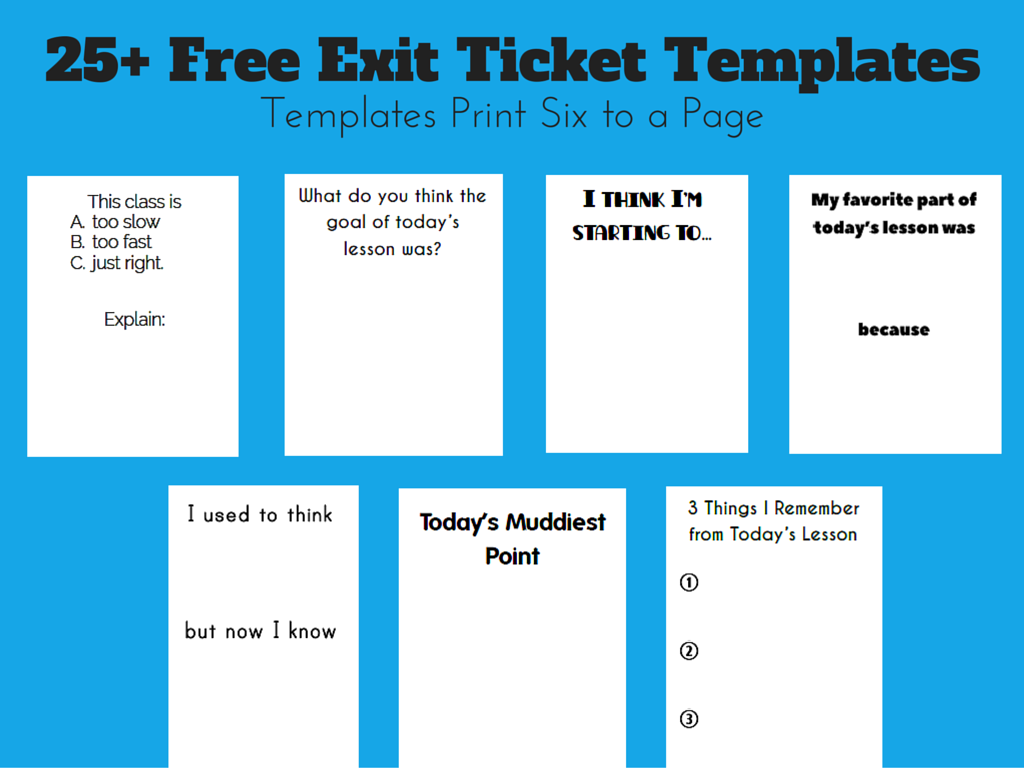Math Love Free Exit Ticket Templates