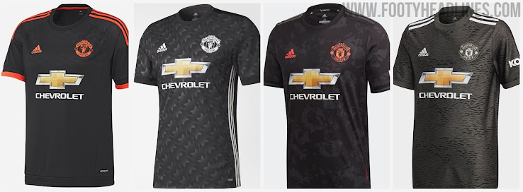 fundamentally the same shirt each time adidas manchester united black kits footy headlines adidas manchester united