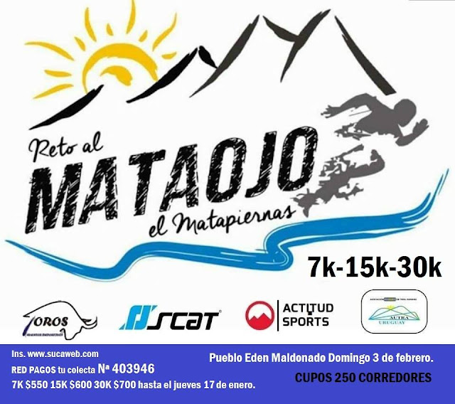 30k 15k 7k Reto al Mataojo - El Matapiernas (Pueblo Edén - Maldonado, 03/feb/2019)