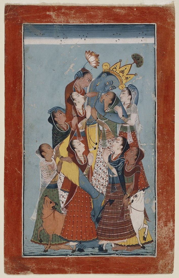 Gopis Clinging to Krishna - Mandi, Early 18th Century