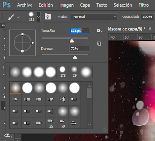 Tutorial: Capa de copos de nieve con Photoshop - Pincel