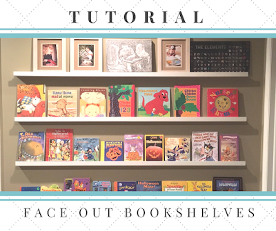 Face Out Bookshelves {Ideas and Tutorial}