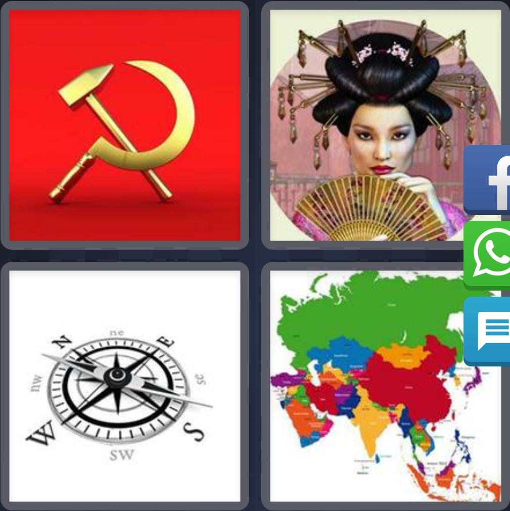 4 Fotos 1 Palabra China Brujula Mapa Comunismo Solucion 4 Letras