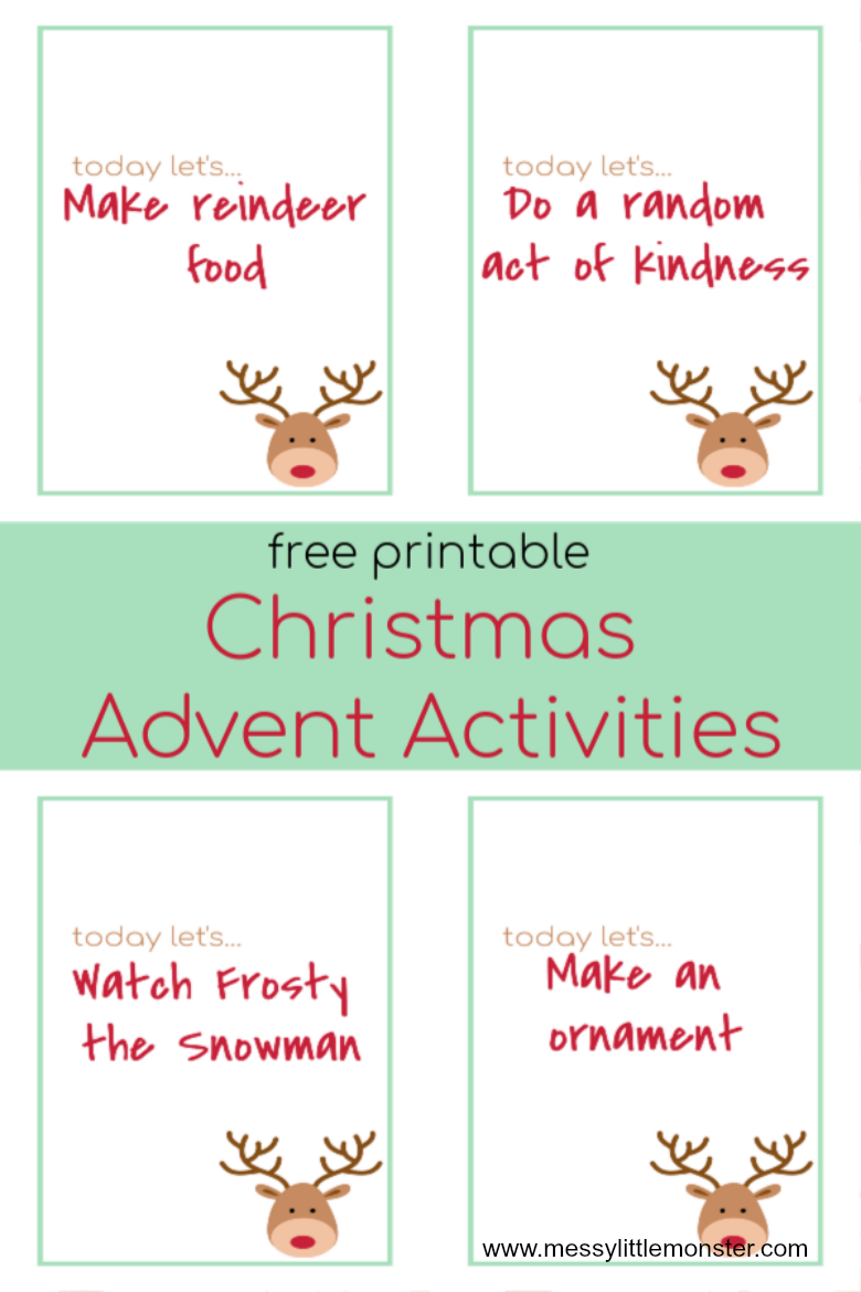 free printable advent calendar ideas