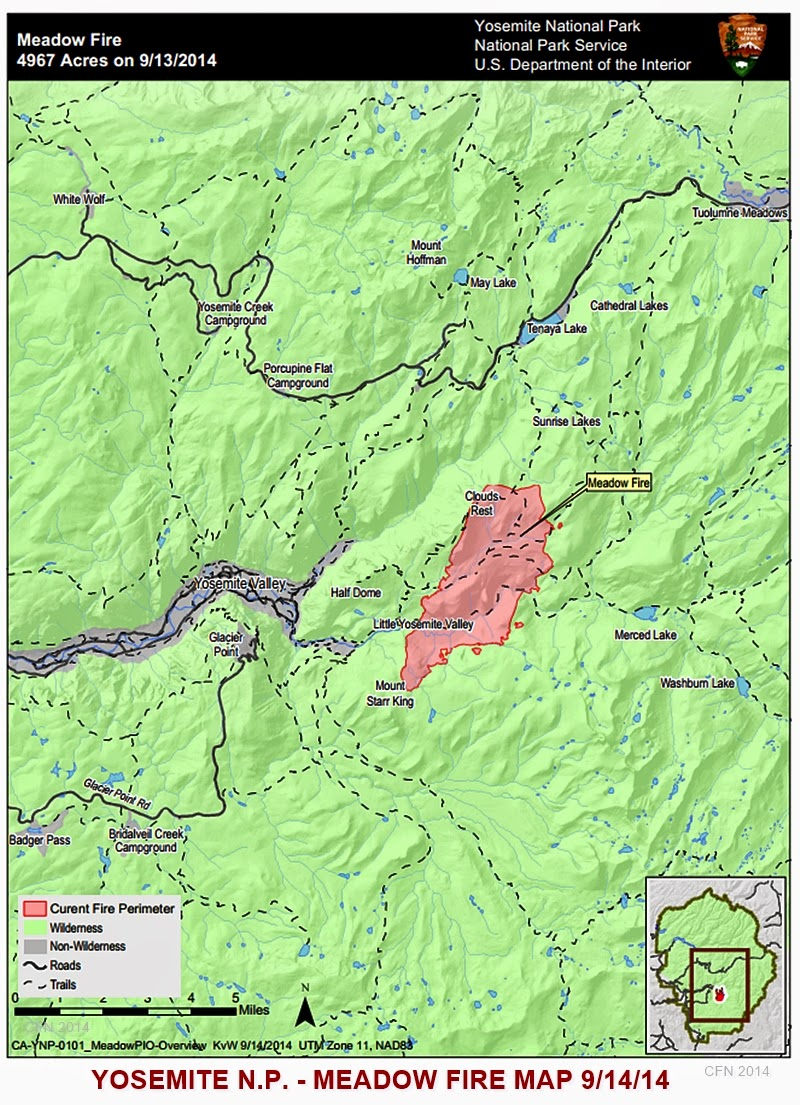 Fire Map Yosemite.Cfn California Fire News Cal Fire News Yosemite National Park