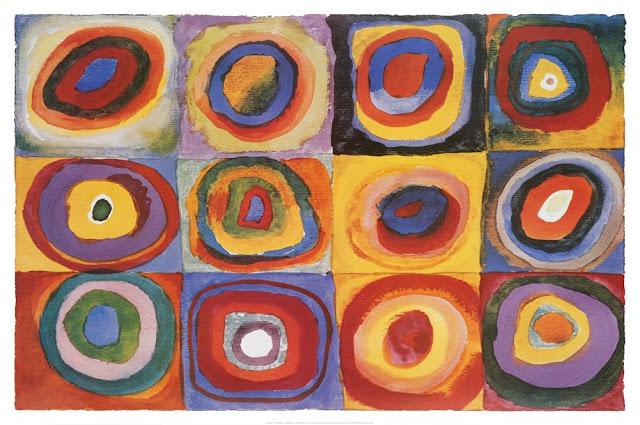 Wassily Kandinsky Farbstudie Quadrate Art Print Poster