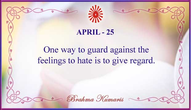 Thought For The Day April 25