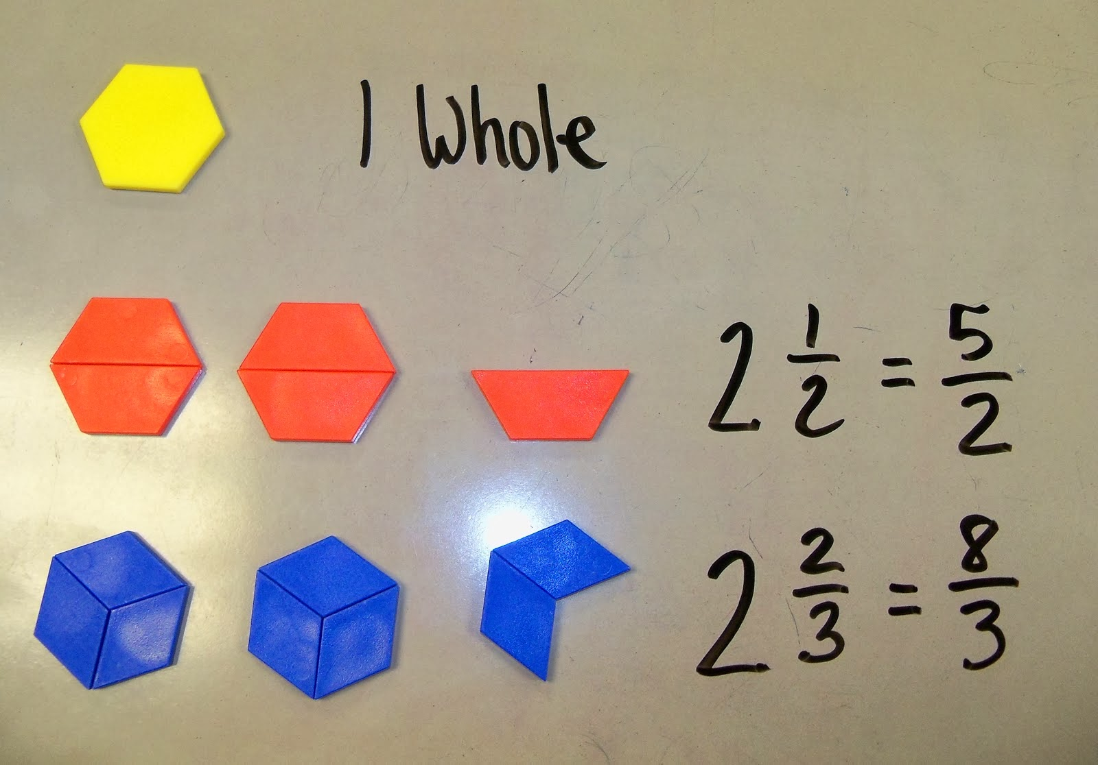 The 4th Grade May-niacs: Mixed Numbers and Improper Fractions