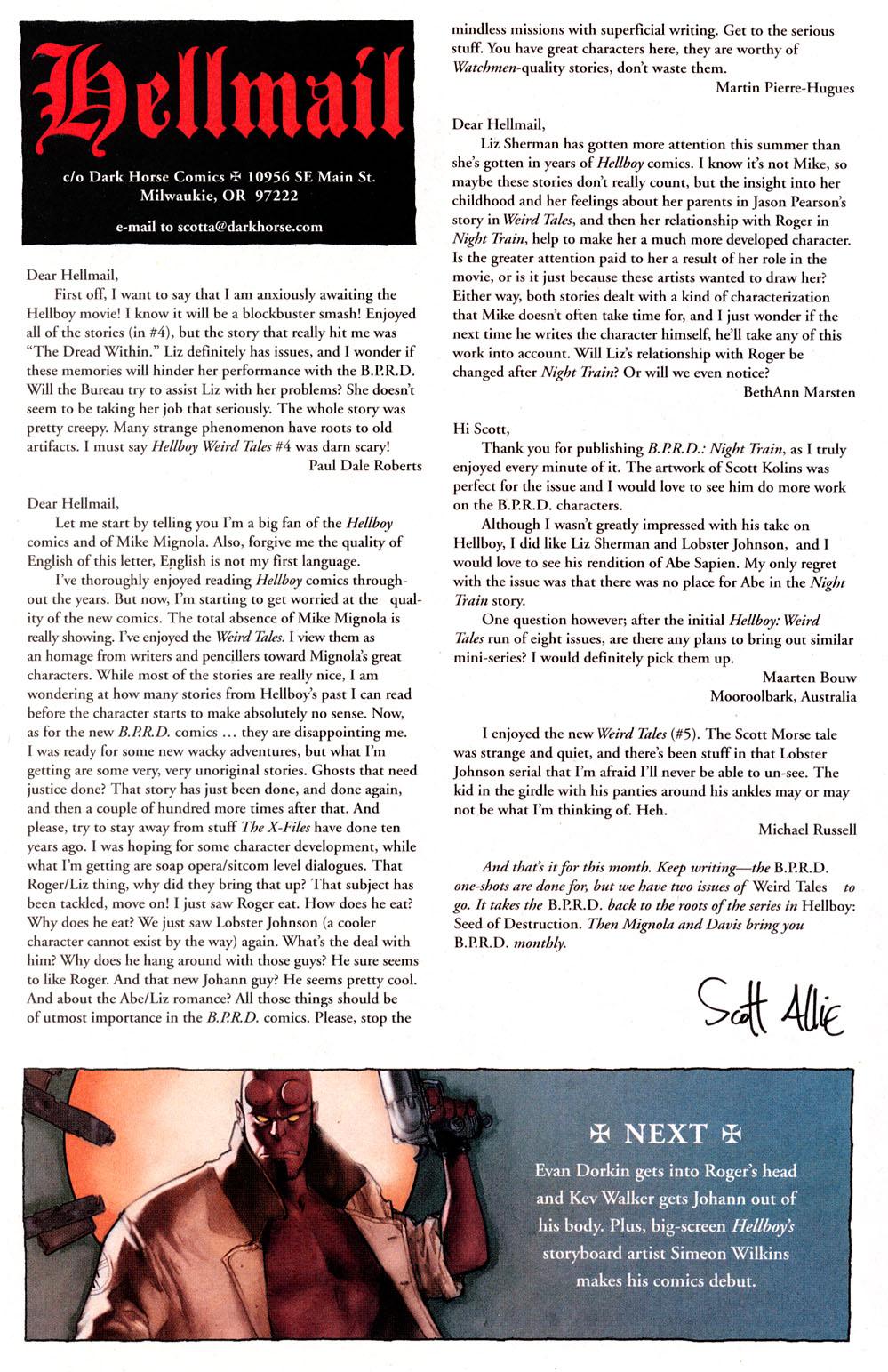 Read online Hellboy: Weird Tales comic -  Issue #6 - 27