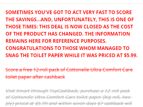 Kmart com: *HOT* FREE 12 Roll Pack of Cottonelle Ultra