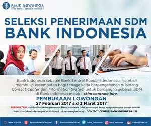 Seleksi Penerimaan SDM Bank Indonesia 2017