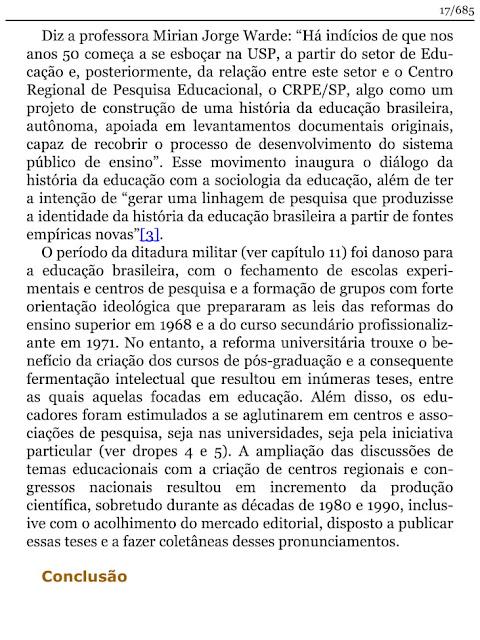 HISTÓRIA DA EDUCAÇÃO E DA PEDAGOGIA PDF