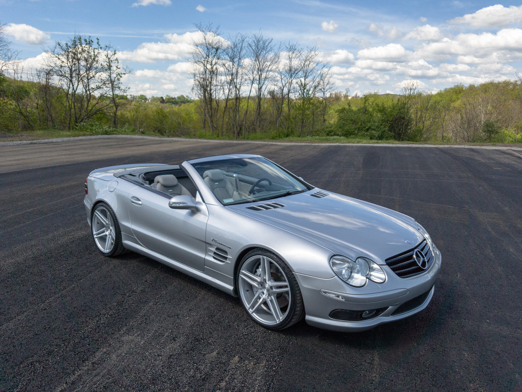 2003 mercedes benz r230 sl55 amg on r20 niche wheels