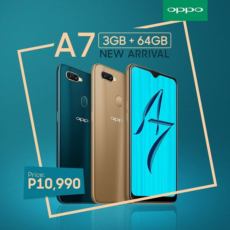 OPPO A7 (3GB) Lands in the Philippines