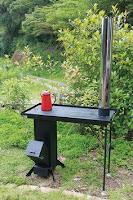 cocina de hierro con plancha