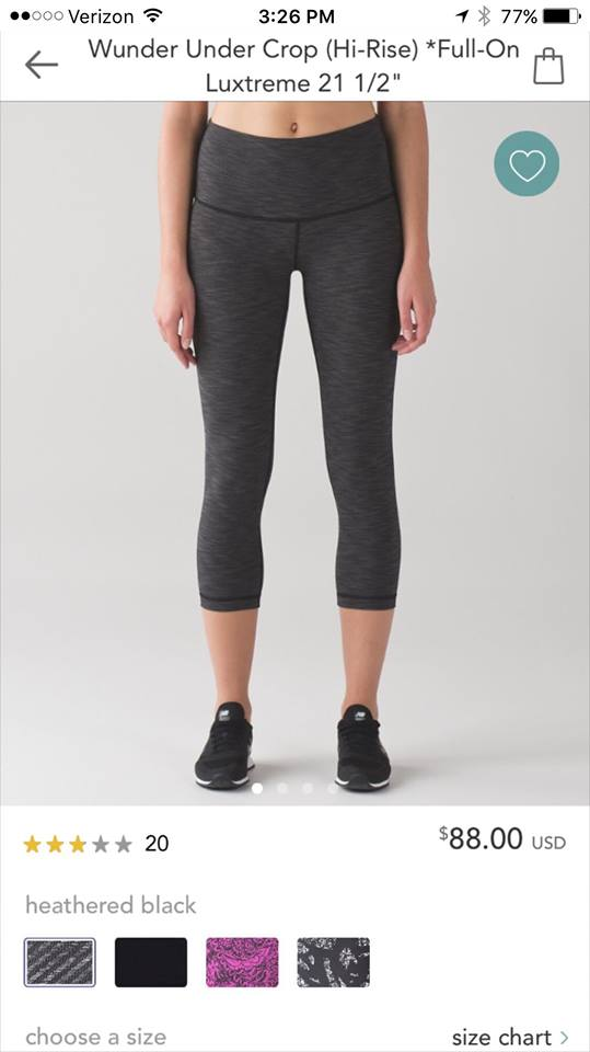 lululemon heathered-black wunder-under