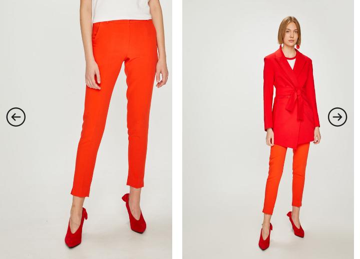 Answear - Pantaloni casual-eleganti portocalii de femei