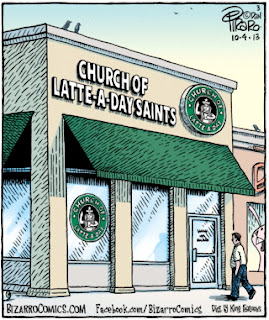 Church of Latte-A-Day Saints religious joke picture