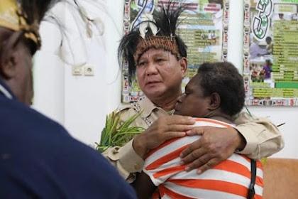 Prabowo kepada Rakyat Papua: Kehangatan Pelukan Kalian Tidak Akan Pernah Saya Lupa