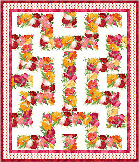 Amazing Poppies Quilt Pattern