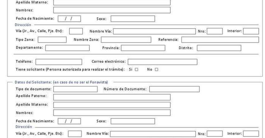FONAVI: Formularios oficiales para tu inscripción en: www.fonavi-st.gob.pe