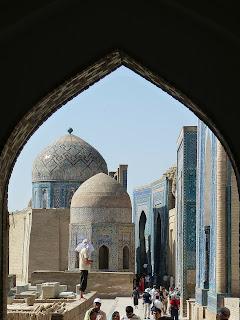 Matéria do blog 'lugares de memória' sobre Samarcanda, localizada no Uzbequistão, Ásia Central.
