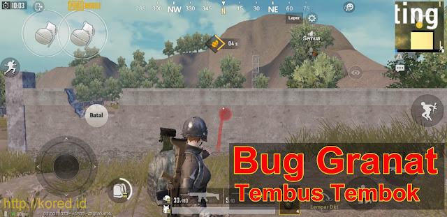 Bug Lempar Granat Tembus Tembok Pubg Mobile 0.12