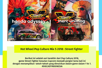 Hot Wheel Pop Culture Mix 5 2018 : Street Fighter