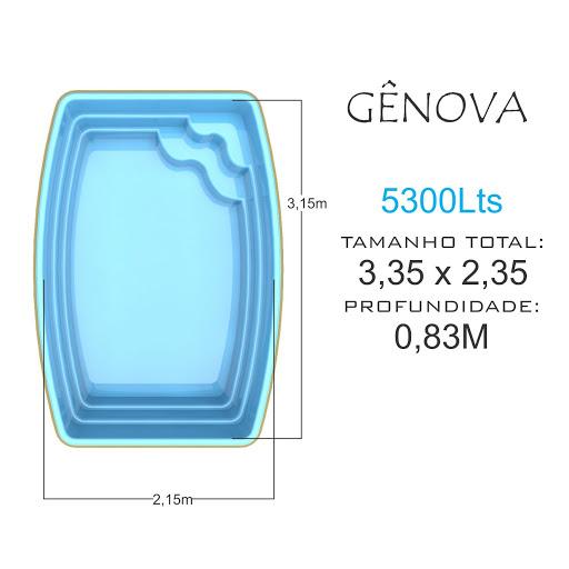 Piscina de fibra Gênova