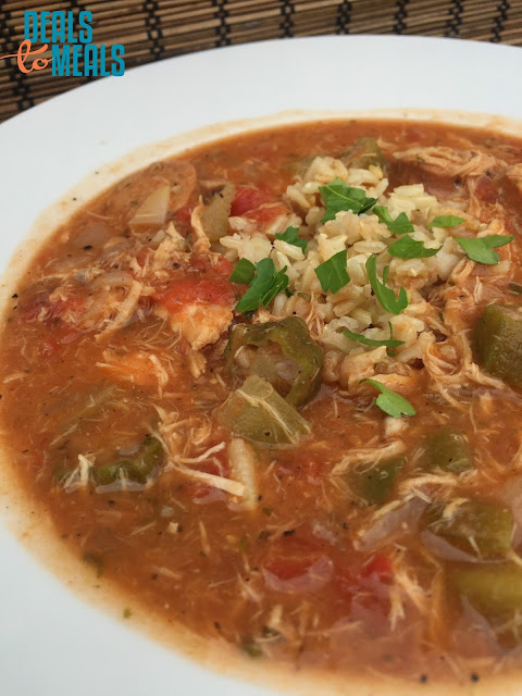 Recipe: Soup, Copycat Recipes, easy gumbo soup, Deals to Meals, rib and chop