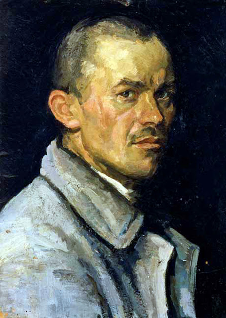 Arkady Plastov, Self Portrait, Portraits of Painters, Fine arts, Portraits of painters blog, Paintings of Arkady Plastov, Painter Arkady Plastov