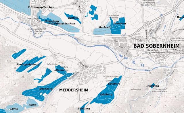 Weinlagen rund um Meddersheim an der Nahe