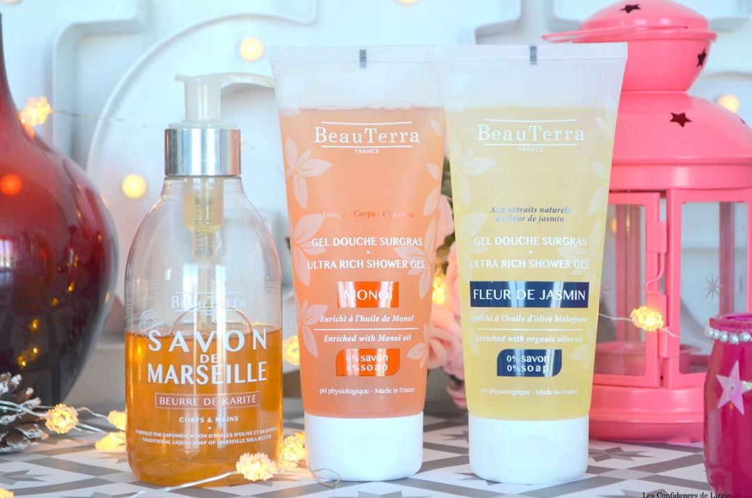 hygiene- gel douche -gel moussant - gel douche surgras- huile biologique - soin naturel - soin francais - gel douche francais - savon de marseille liquide