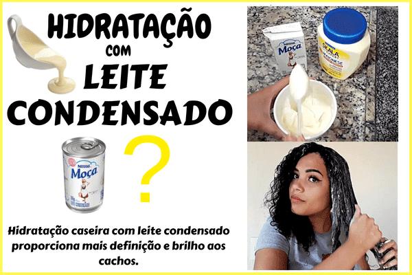 hidratação caseira com leite condensado