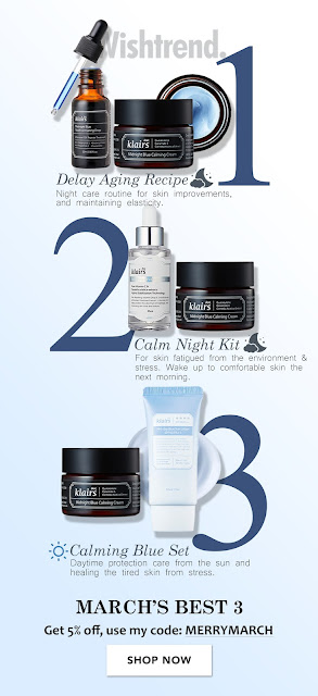 WISHTREND MARCH 2018 FREEBIES COUPON CODE AND DISCOUNT CODES [KLAIRS] [Set] Calm Night Kit