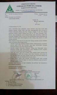 GP Ansor Kabupaten Batang Tolak Kedatangan Ustad Firanda Andirja