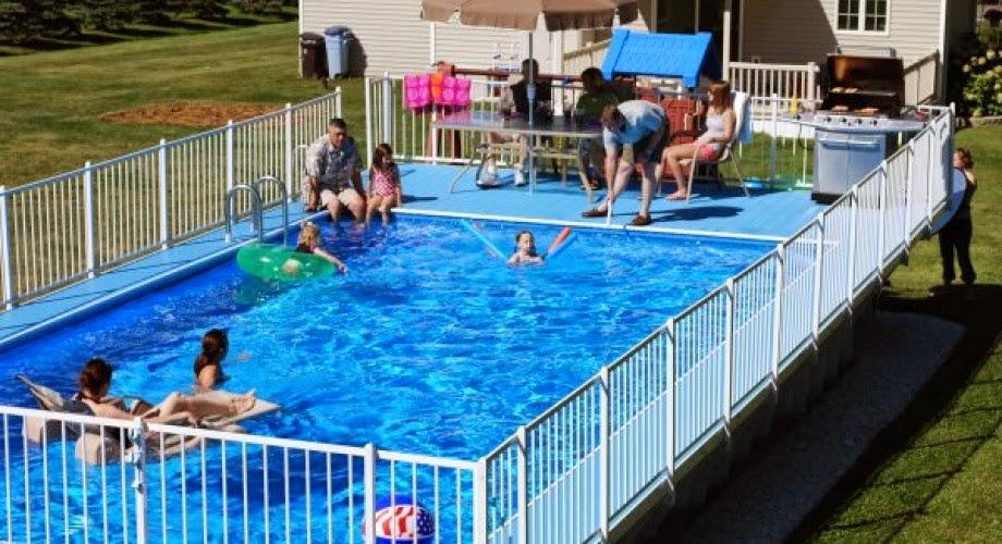 backyard pool party