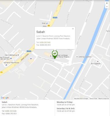 Alamat dan Peta Branch/Cawangan Shaklee di Seluruh Malaysia