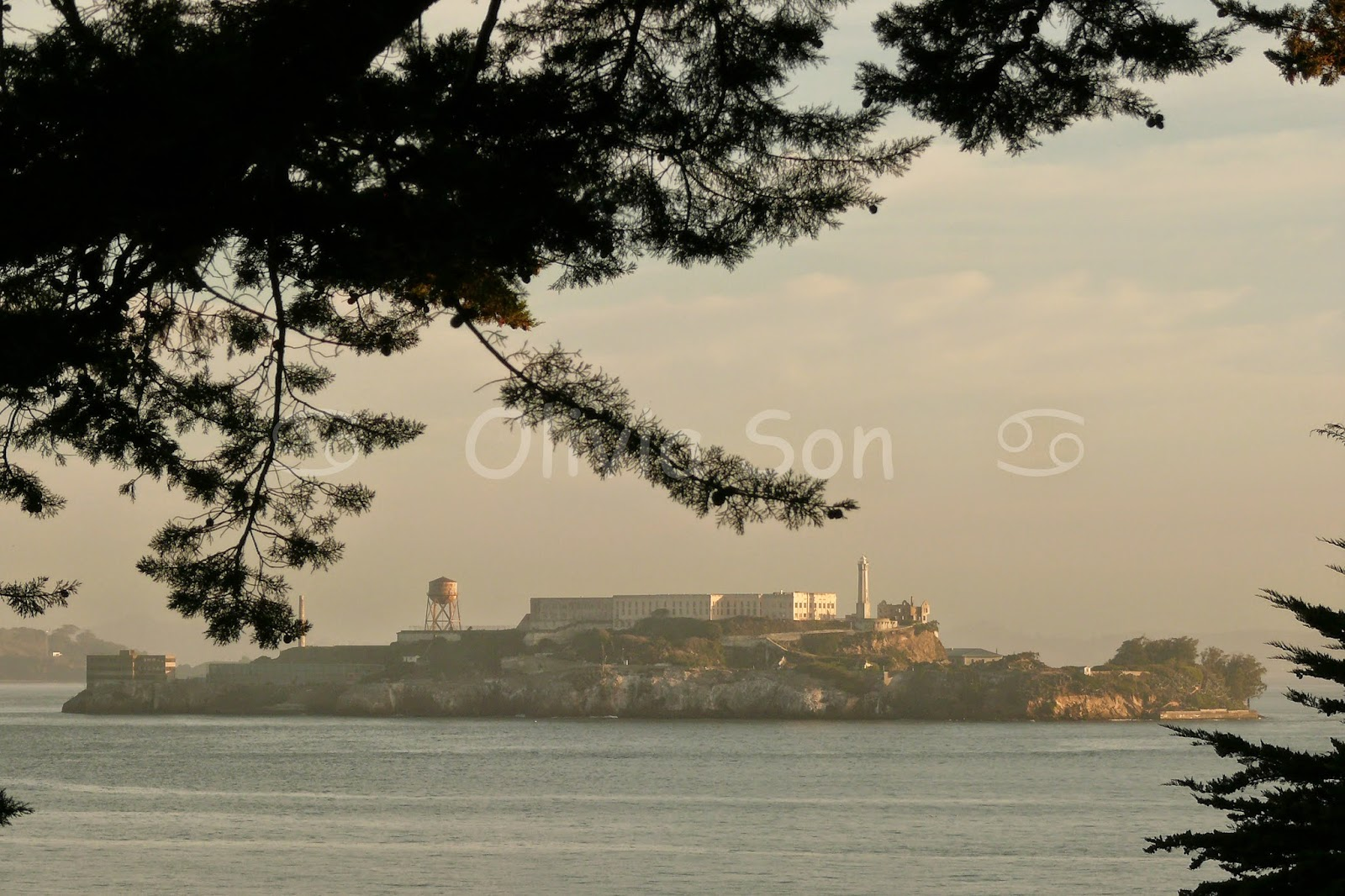 sunset alcatraz san francisco, californie, usa