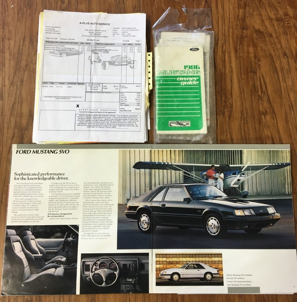 Mustang SVO 1986 Ford Turbo Low Mileage