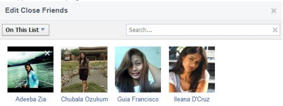 Close Friends Facebook